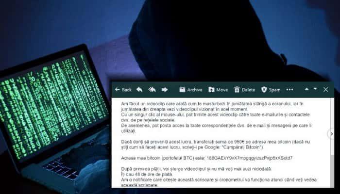 bitcoin scam scrisoarea de șantaj